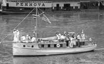 Close up of Naval Reserve Yacht from collection of Monongahela River Buffs