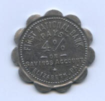 "Back of token used for ""One Horse or Mule"""