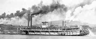 Photo of Steamer CHARLES BROWN from S&D Reflector December 1972   Photo taken during 1890s
