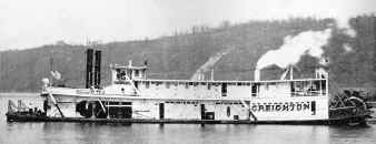 Photo of Steamer CREIGHTON from Gary Imwalle's collection of THE WATERWAYS JOURNAL