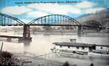 Elizabeth Bridge postcard dated 1921 showing the boat house shown in previous photo.