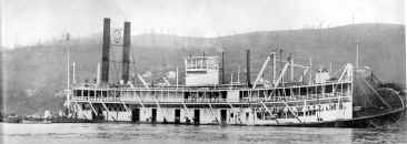 Steamer JOSEPH B. WILLIAMS photo from Mississippi Stern Wheelers Number 1