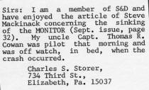 A follow up letter to S&D Reflector dated December 1977