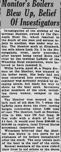 Article from Pittsburgh Press dated Feb 15, 1925