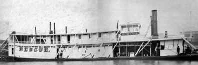 Photo of Steamer RESCUE from collection of Monongahela River Buffs