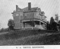 S. A. Bryce residence photo circa 1920 from collection of Norma Werner