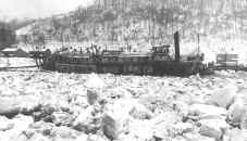 Steamer ALICIA icebound during February 1918 near Brownsville, PA