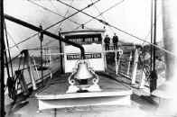 Photo of the Pilot House of the Steamer TRANSPORTER from collection of Historic Pittsburgh.  Date of photo is unknown.