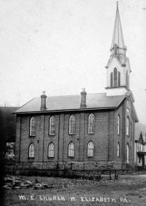 West Elizabeth Methodist Church postcard dated 1910