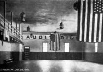 Postcard showing Elizabeth American Legion Auditorium dated January 29,1910.