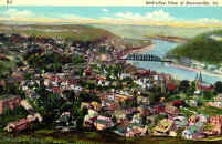 Birds Eye View of Brownsville in Color