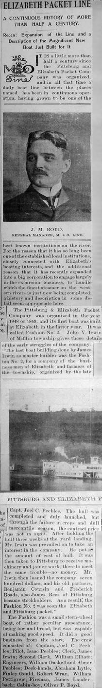 Middle column of article.  From collection of William Caulkett of Elizabeth, PA 2014.  William's son is Zach Caulkett and Zach's cousin is Jeremy Stiehl also of Elizabeth.