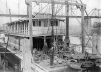 Dredge WESTERN having repair work from collection of Cincinnatti Public Library