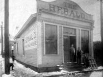 Elizabeth Daily Herald building circa early 1900 from collection of Historic Elizabeth
