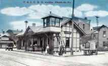 Elizabeth Train Station in early 1900s