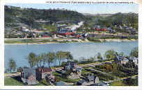 Kittanning, PA on the Allegheny River   Postcard dated 1918