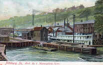 Color Version of Lock 1 with Steamer W. C. JUTTE