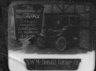 N. W. McDonald Ford Garage advertisement dated 1922