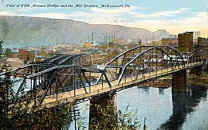 Another View of these two Mckeesport Bridges   1913