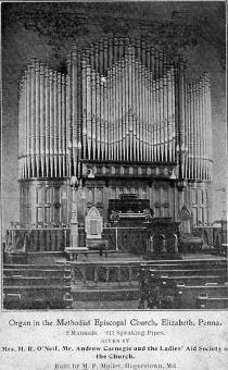 Interior of Methodist Church, photo is dated 1902.