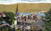 This postcard, dated 1916, shows the bridge from the town