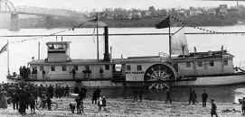 Another view of the replica of the Steamer NEW ORLEANS while on its trip from Pittsburgh to New Orleans during November 1911