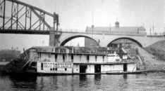 Steamer OLD RELIABLE buit in 1900 is tied up at the Point in Pittsburgh