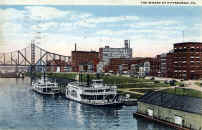 Pittsburgh Wharf Postcard dated 1916