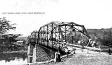 Point Marion Bridge on Opening Day 1909