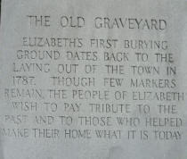 Graveyard marker from collection of Historic Elizabeth