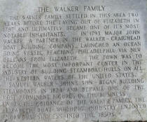 Marker from Walker Cemetery from collection of Historic Elizabeth