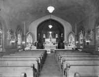 Closer view of interior of St. Michaels from collection of Historic Elizabeth..date unknown